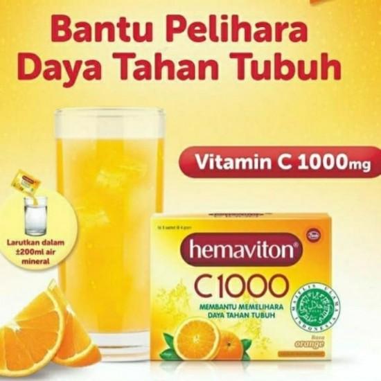 Hemaviton C1000 Rasa Orange Sachet Minuman Kesehatan