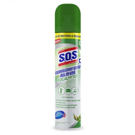 SOS Disinfectant Spray All In One - Eucalyptus [ 250ml/3PCS ]