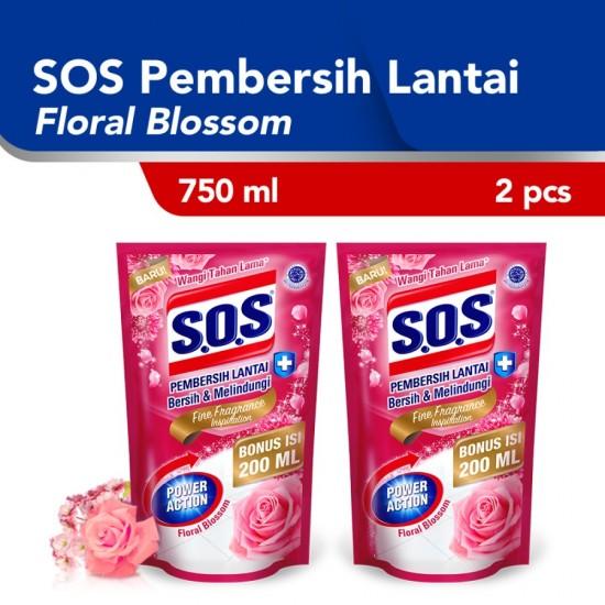 SOS Floral Breeze Refill Pembersih Lantai [750 mL] / 2 pcs