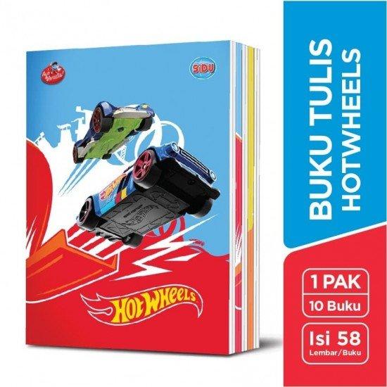 SiDU Buku Tulis Hotwheels 58 Lembar - 10 Buku