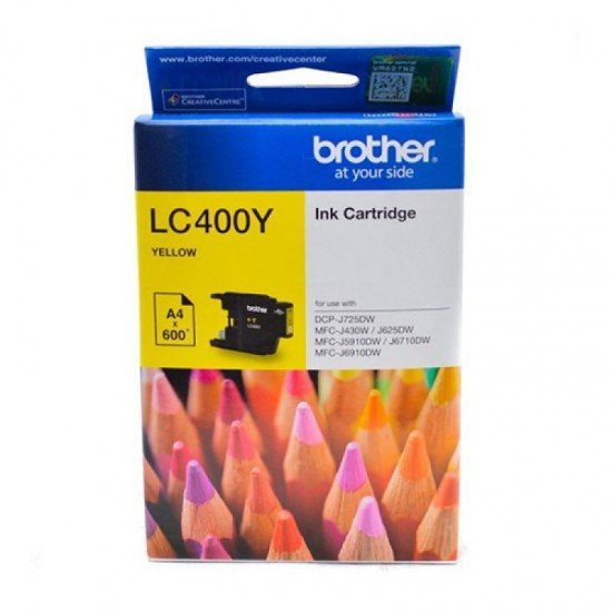 BROTHER Yellow Ink Cartridge LC-400Y