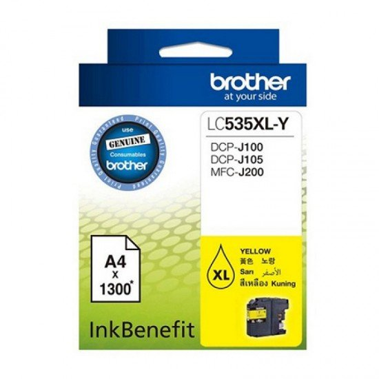 BROTHER Yellow Ink Cartridge LC-535XLY