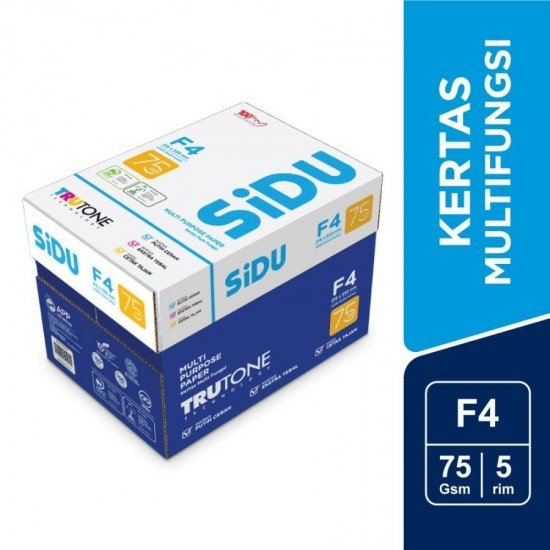 SiDU Kertas Fotocopy 75 GSM F4 - 1 Boks - 5 Rim