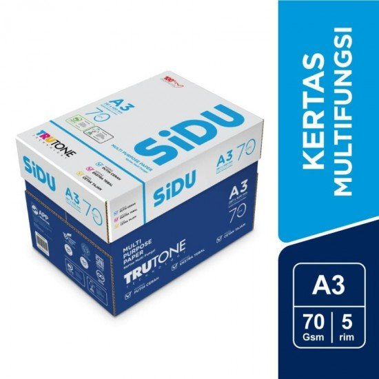 SiDU Kertas Fotocopy 70 GSM A3 - 1 Boks - 5 Rim