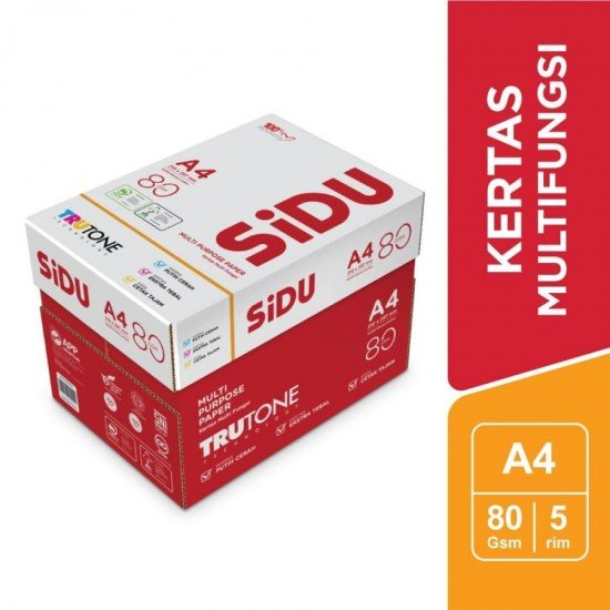 SiDU Kertas Fotocopy 80 GSM A4 - 1 Boks - 5 Rim