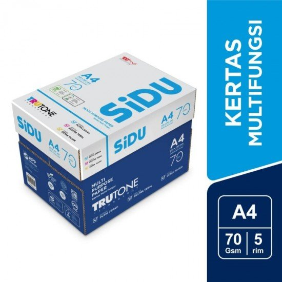 SiDU Kertas Fotocopy 70 GSM A4 - 1 Boks - 5 Rim