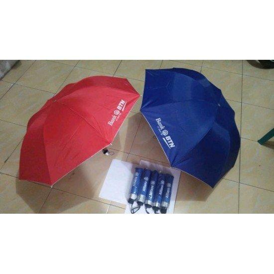 Souvenir Payung Lipat Tiga Dalam Silver UV
